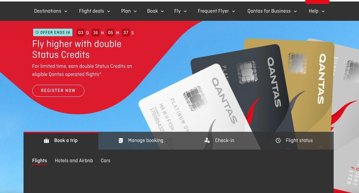 SQUEEL!!!! Double Status Credits with Qantas from 1 to 5 January for travel 12 Jan 2018 to 20 Jan 2020!