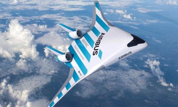 Airbus: toy blended-wing test aircraft flies