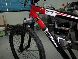 La bici a convertir...