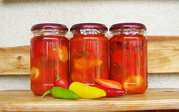 Chilis in Tomato Salsa are excellent spicy canned dish to be used with any kind of food if you are spicy food fan.