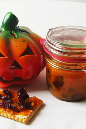 Pumpkin Cranberry Jam is ideal way to use pumpkin meat to have a side dish both for Thanksgiving and Christmas.