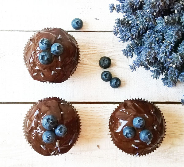 Lavender Blueberry Double Chocolate Muffins combine Nature's Perfect Couple: blueberries and lavender, bound with a lot of chocolate. This marriage shall last forever !