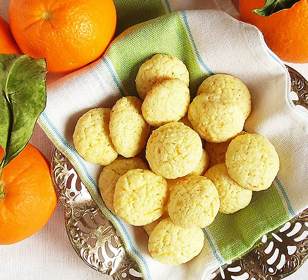 Easy Sugar Cookies with a dash of orange.