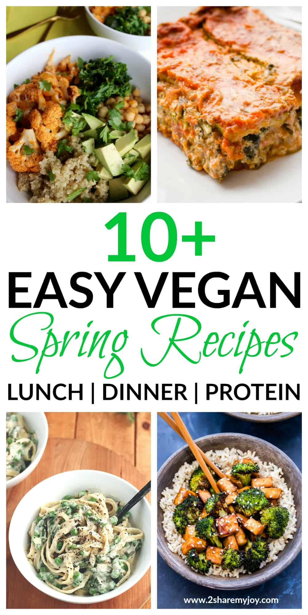 Easy vegan spring recipes for a whole food plant based diet. High protein dinner recipes that can also be used for lunch. These vegan recipes make great weight loss meals too and are budget friendly. Artichokes, broccoli, Brussels sprouts, cauliflower, leeks, lettuce,mushrooms #veganrecipe #springrecipe #healthyrecipe