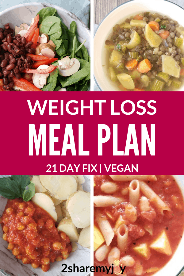 weight loss meal plan for the 21 day fix vegan weight loss meal plan for