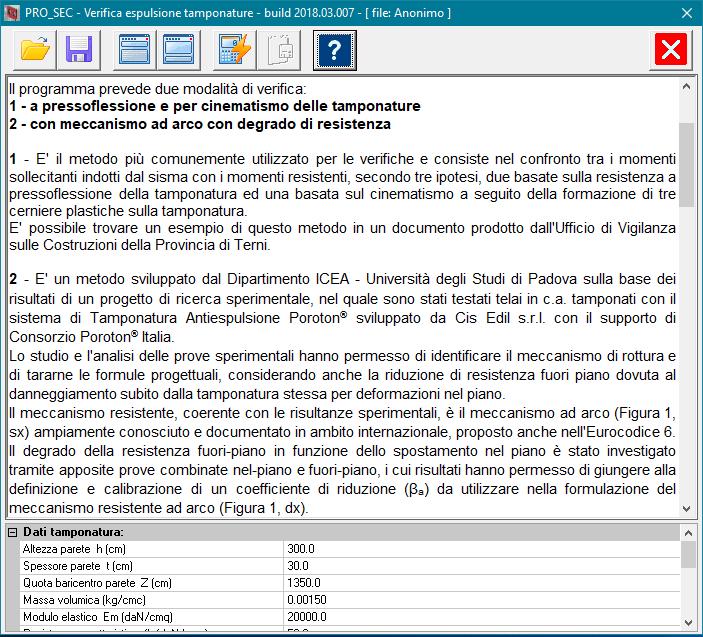 PRO_SEC Verifica espulsione tamponature