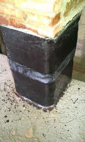 Rinforzo in FRP su colonna in muratura