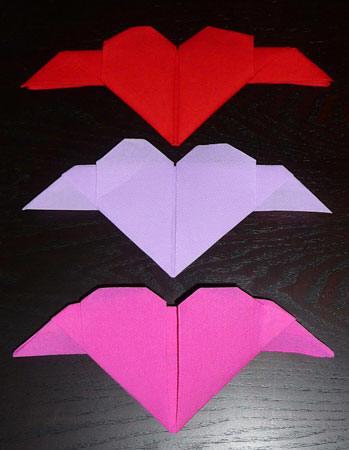 Pliage De Serviette En Papierplier Une Serviette En Coeur