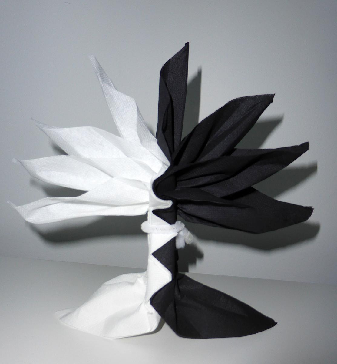 pliage de serviette de table en forme