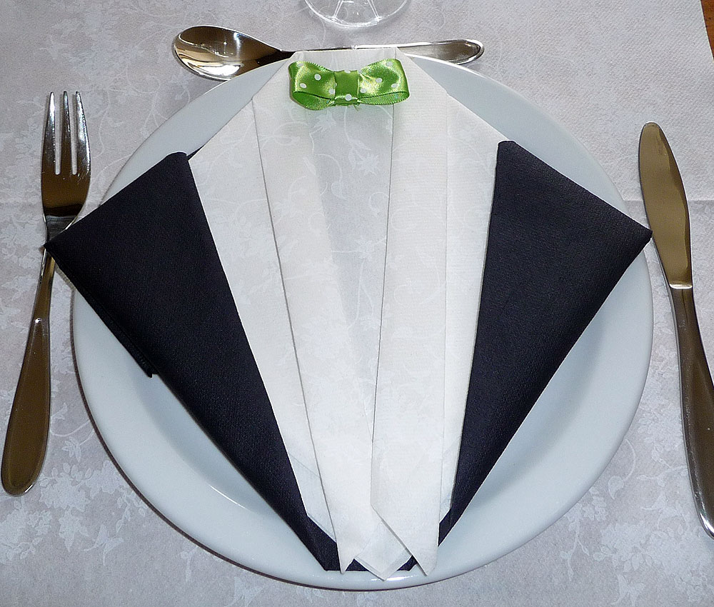 Empreinte Digitale Suisse T Pliage Serviette Costume Cravate Porteparole Pourri Contradiction