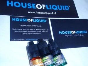 inhoud brievenbuspakje Dampvloeistof House of Liquid Review