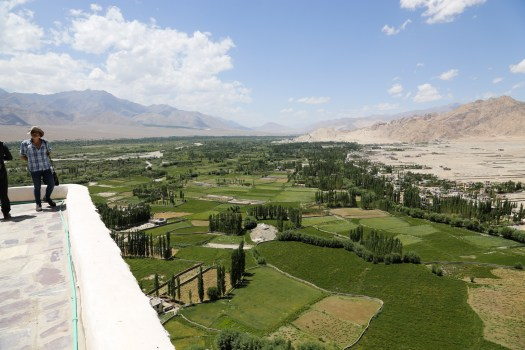 The view from Thiksey Monastery