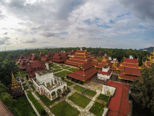 Mandalay Palace from above