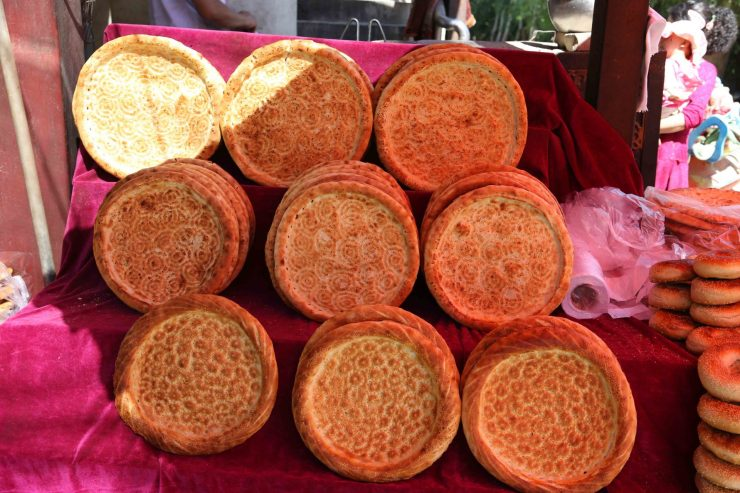 Xinjiang cuisine Uighur cuisine Nan bread