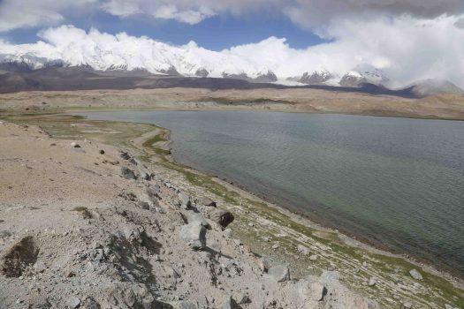 karakul lake at karakoram highway