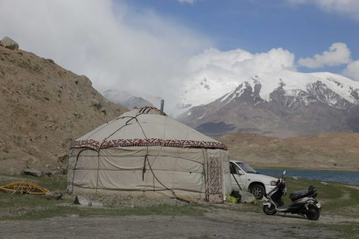Karakul Lake offers scenic views of the mountains from all around