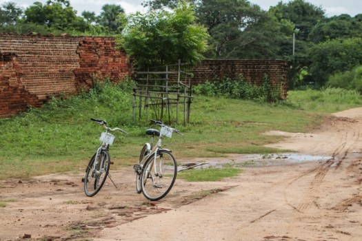 Bicycles are an eco-friendly but slow way to explore the ruins