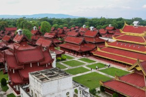 Mandalay Palace From Up Top