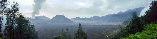 Panoroma of sunrise view from Mount Penanjakan
