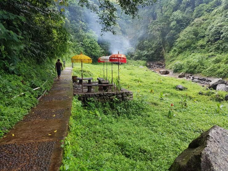 Madakaripura Waterfall path