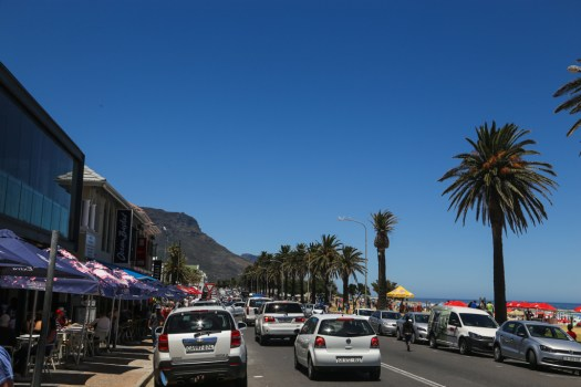 The crowds at Camps Bay