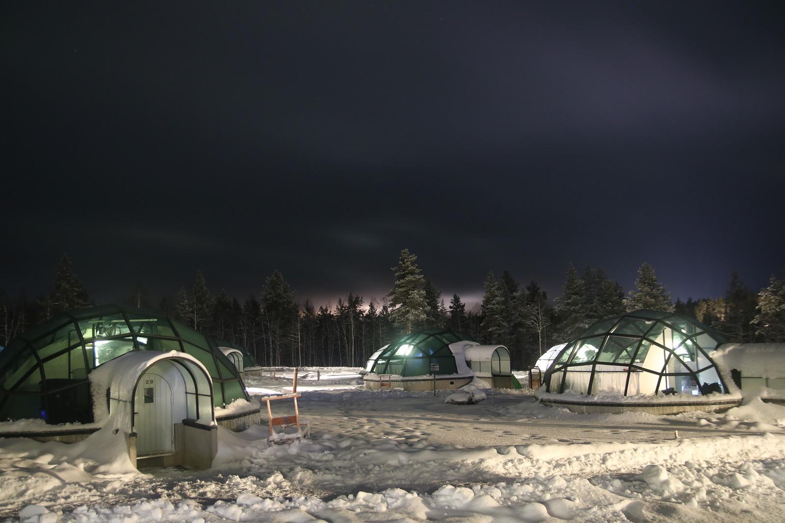 glass igloo in kakslauttanen