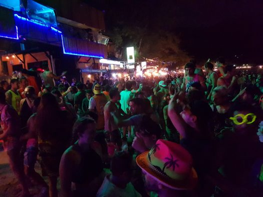 Dance party at the full moon party Koh Phangan