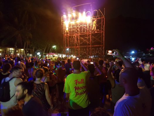 The full moon party at Haad Rin, Koh Phangan
