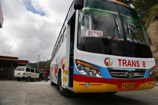 Overnight buses are the easiest way to travel around Luzon
