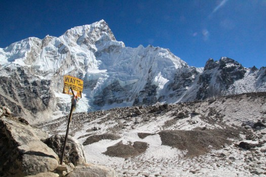 The famous Everest B.C signboard