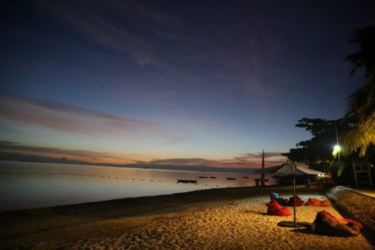 Sunset at Alona Beach