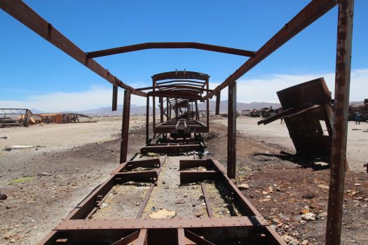 Train graveyard in Uyuni