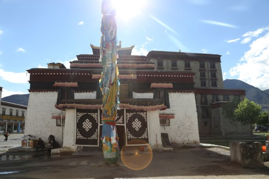 The final stop for the trek, Samye Monastery, was reached a lot faster on wheels