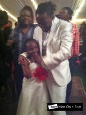 Mic Inity shares a dance with his daughter
