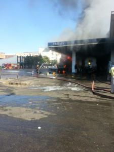 Redan service station destroyed -  Picture by Radio Dialogue FM
