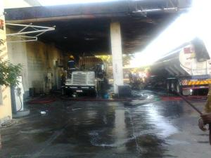 Redan station after the fire - photo by Radio Dialogue FM