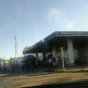 Redan garage after the fire -  Courtesy of RUPS