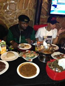 Pokello and Elikem lunching at Garwe