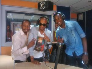 Liquideep in Zim with Nosh and Cheif Koti at Star FM