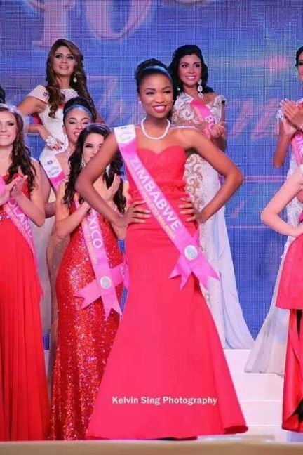 Dananai Chipunza winning Miss Carnival in 2013
