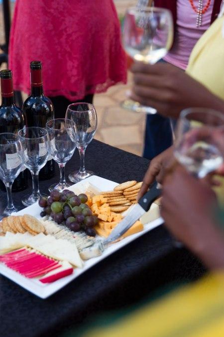 wine tasting at Rainbow Towers food Fest