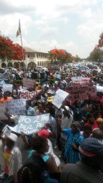 Prepaid water meter protest in Bulawayo - PIC: Bulawayo Agenda