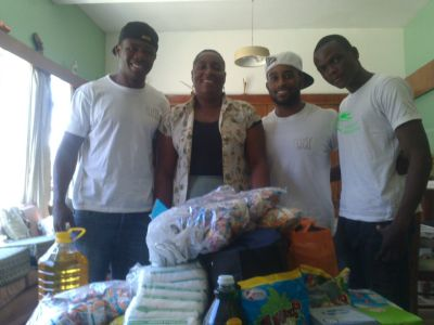 JJ and athletes at Harare Children's Home