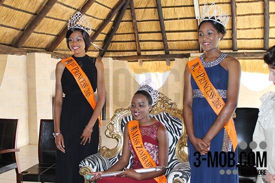 Miss World Zimbabwe Annie-Grace Mutambu, First Princess Chengetai Kanonhuwa and Second Princess Anissa Ndiriwani PIC: 3-mob.com/Michael Shoko