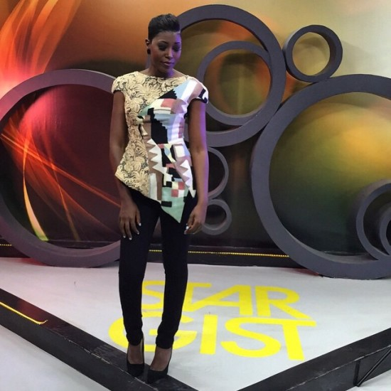 Vimbai is quite all as seen on the set of her show Star Gist PIC: Vimbai's Instagram