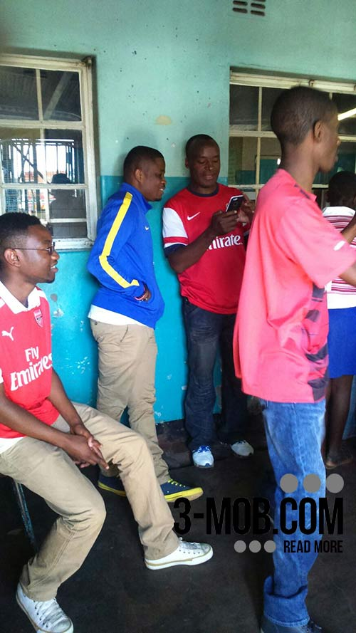 Arsenal Zimbabwe Fan Club members at Felly Children's Home