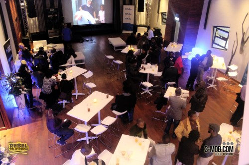 Aerial view of the audience at the Zambezi Magic launch