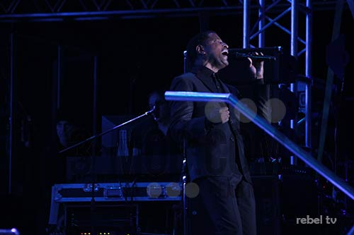 Babyface in Harare at Borrowdale Race Course on 28 August 2015 PIC: 3-mob.com/REBEL TV