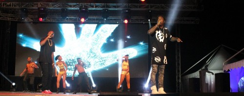 Stonebwoy on stage at the Multichoice Content Showcase in Mauritius PIC: Takudzwa Chihambakwe