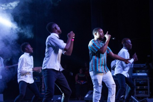 Tytan performing at the Cynthia Mare album aunch